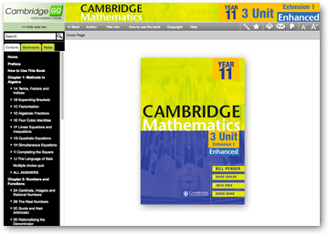 Cambridge 3 Unit Mathematics Year 11 with CD-Rom by Julia Shea, Bill Pender,...
